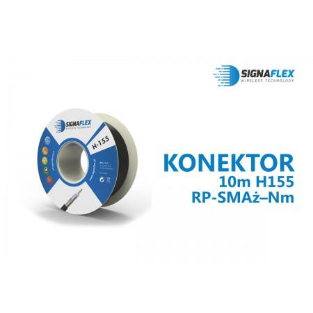 Konektor 10m H155/LMR240 Nm- RP-SMAż
