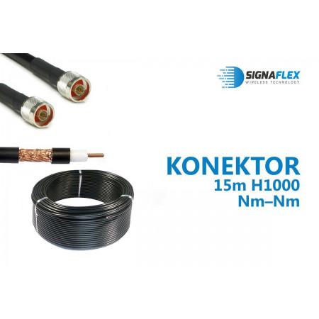 Konektor 15m LMR400/H1000 Nm-Nm