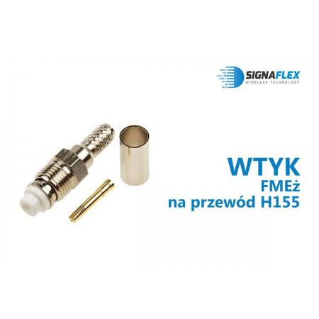 Wtyk FMEż na przewód H155/LMR240/SRF240