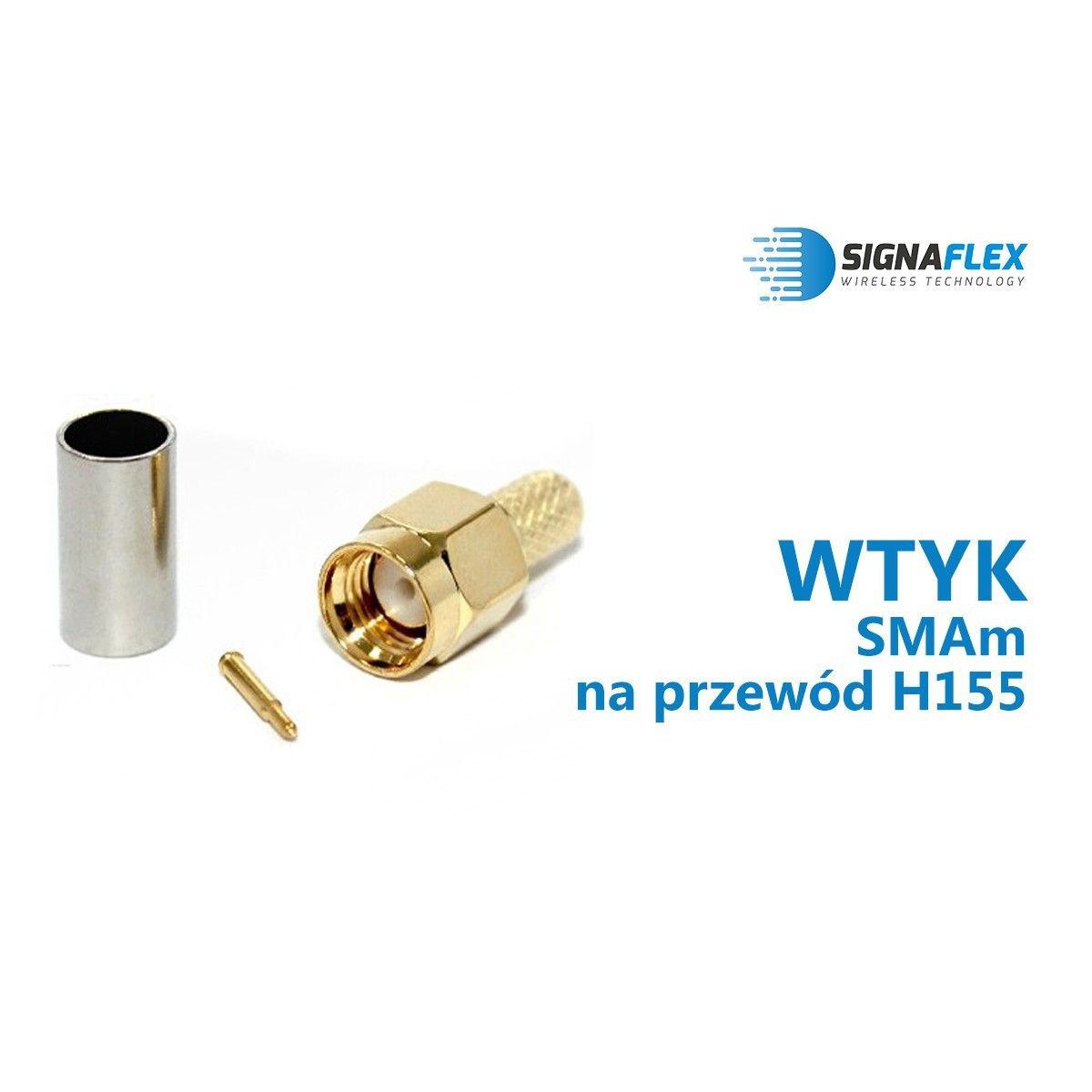 Wtyk SMAm na przewód H155/LMR240