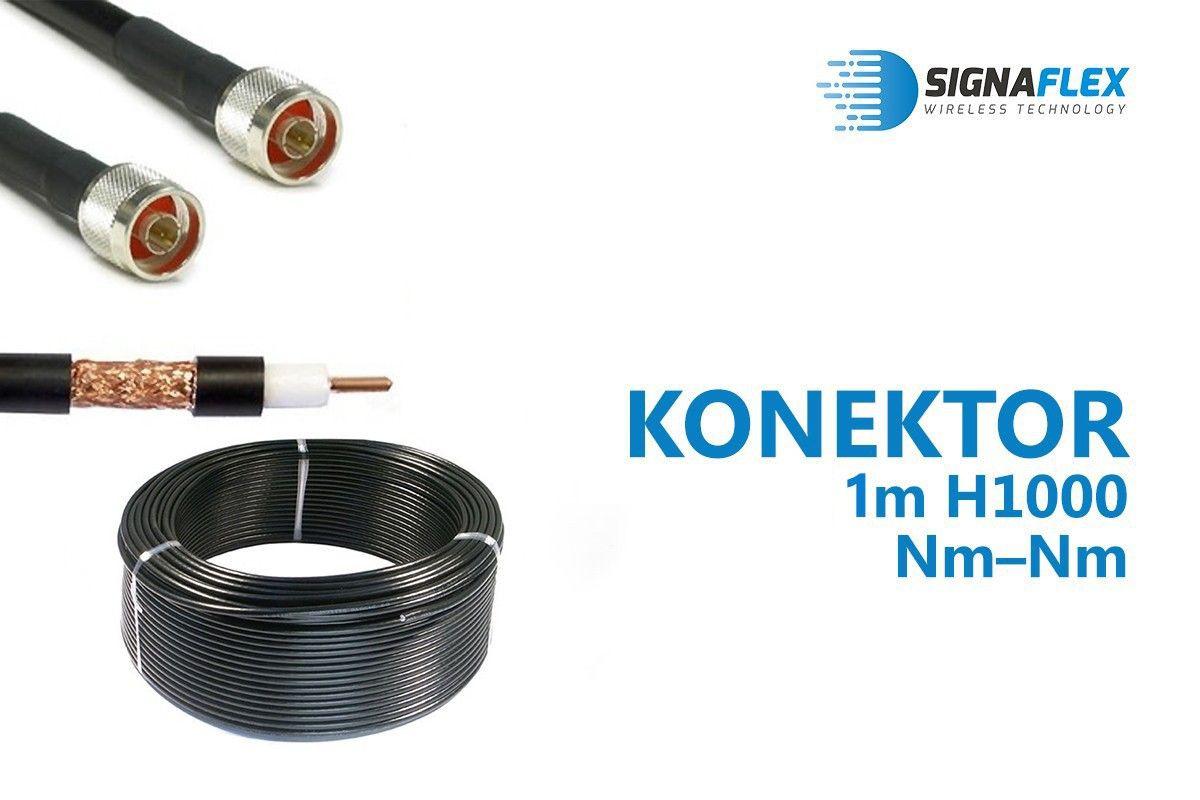 Konektor 1m LMR400/H1000 Nm-Nm