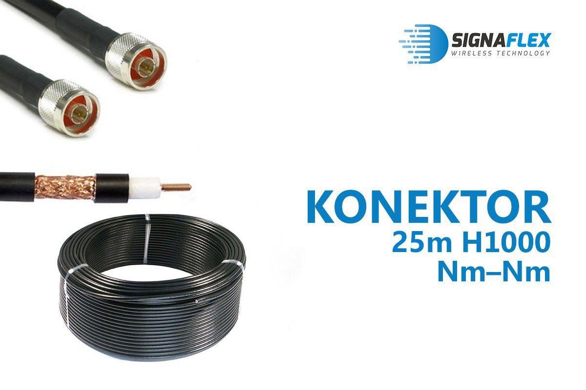 Konektor 25m LMR400/H1000 Nm-Nm