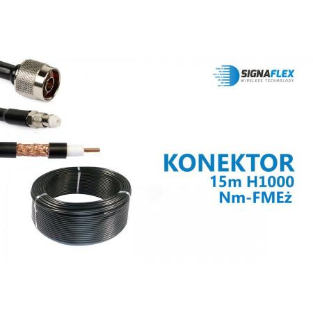 Konektor 15m LMR400/H1000 Nm-FMEż