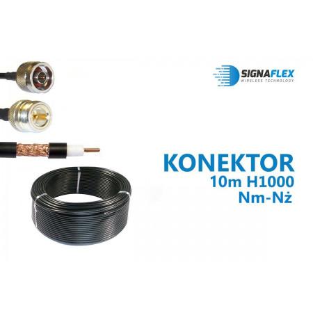 Konektor 10m LMR400/H1000 Nm-Nż