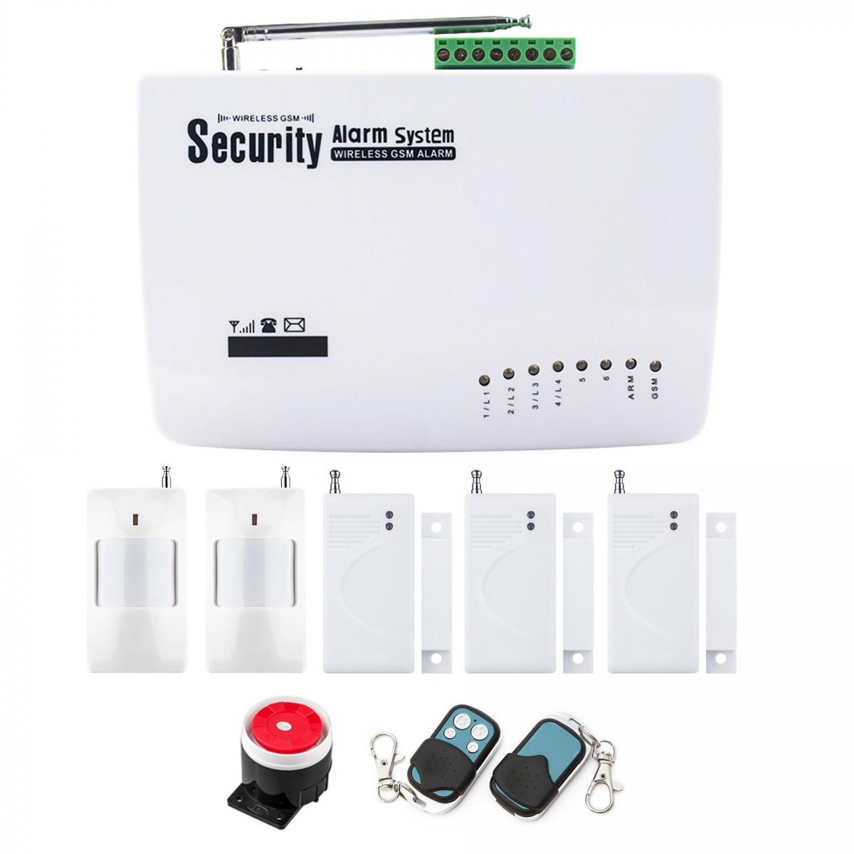 Alarm GSM Red box + 1 PIR + 2 okno/drzwi