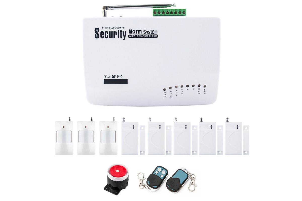 Alarm GSM RED BOX + 2pir + 4 okno