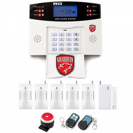Alarm GSM LCD Guardian BOX + 4pir