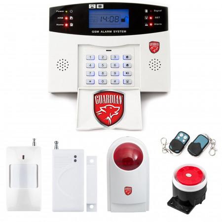 Alarm GSM LCD Guardian box + syrena przewodowa duża