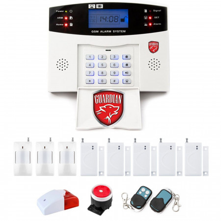 Alarm GSM LCD Guardian BOX + 2pir + 4okno