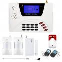 Alarm GSM inteligentny LCD box + 2x czujka PIR + 1 czujka kontaktron + 2x pilot