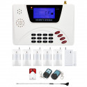 Alarm GSM inteligentny LCD box + 5x czujka PIR + 1x kontakton + 2x pilot