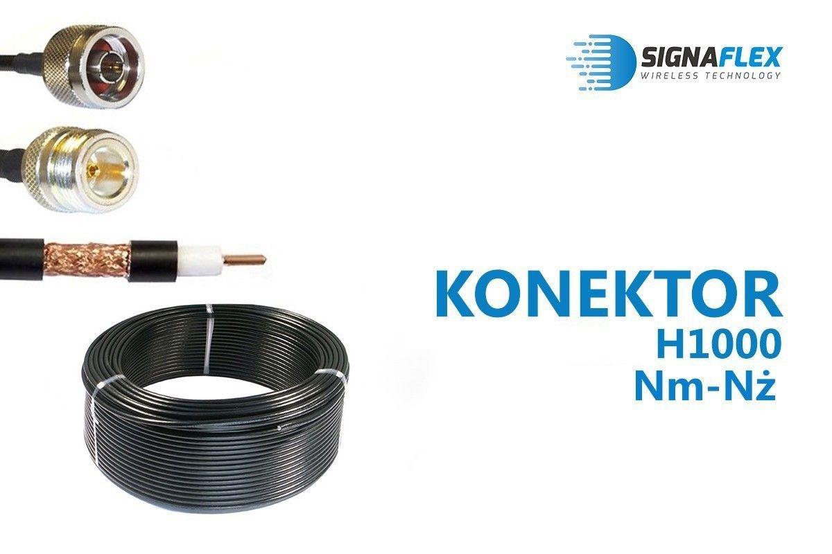 Konektor 15m LMR400/H1000 Nm-Nż
