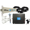Komplet GSM/UMTS/DCS Black LCD Tajfun 3x grzybek