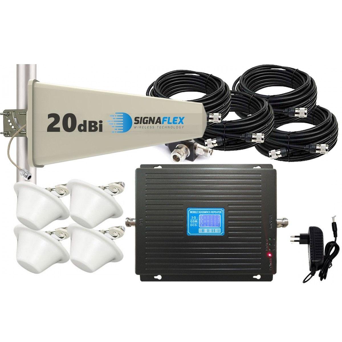 Komplet GSM/UMTS/DCS Black LCD Tajfun 4x grzybek