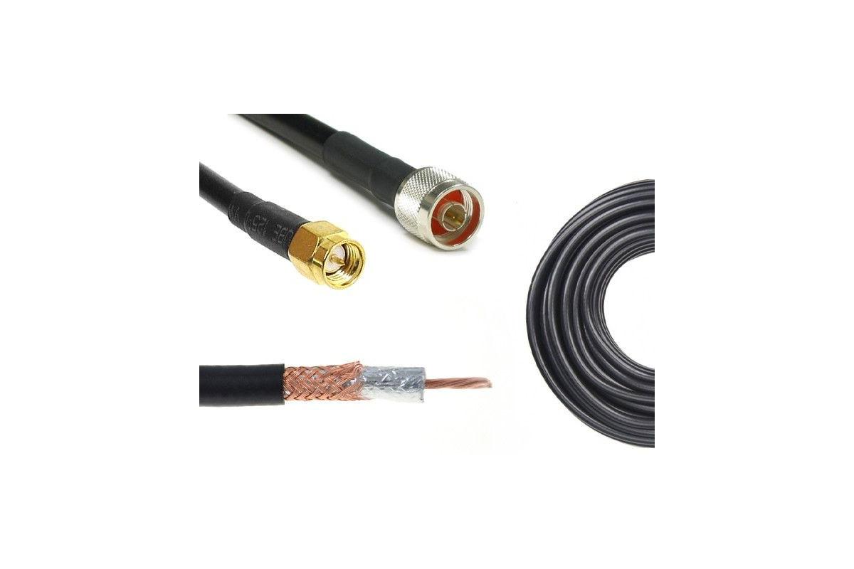 Konektor 5m H155/LMR240 Nm-SMAm