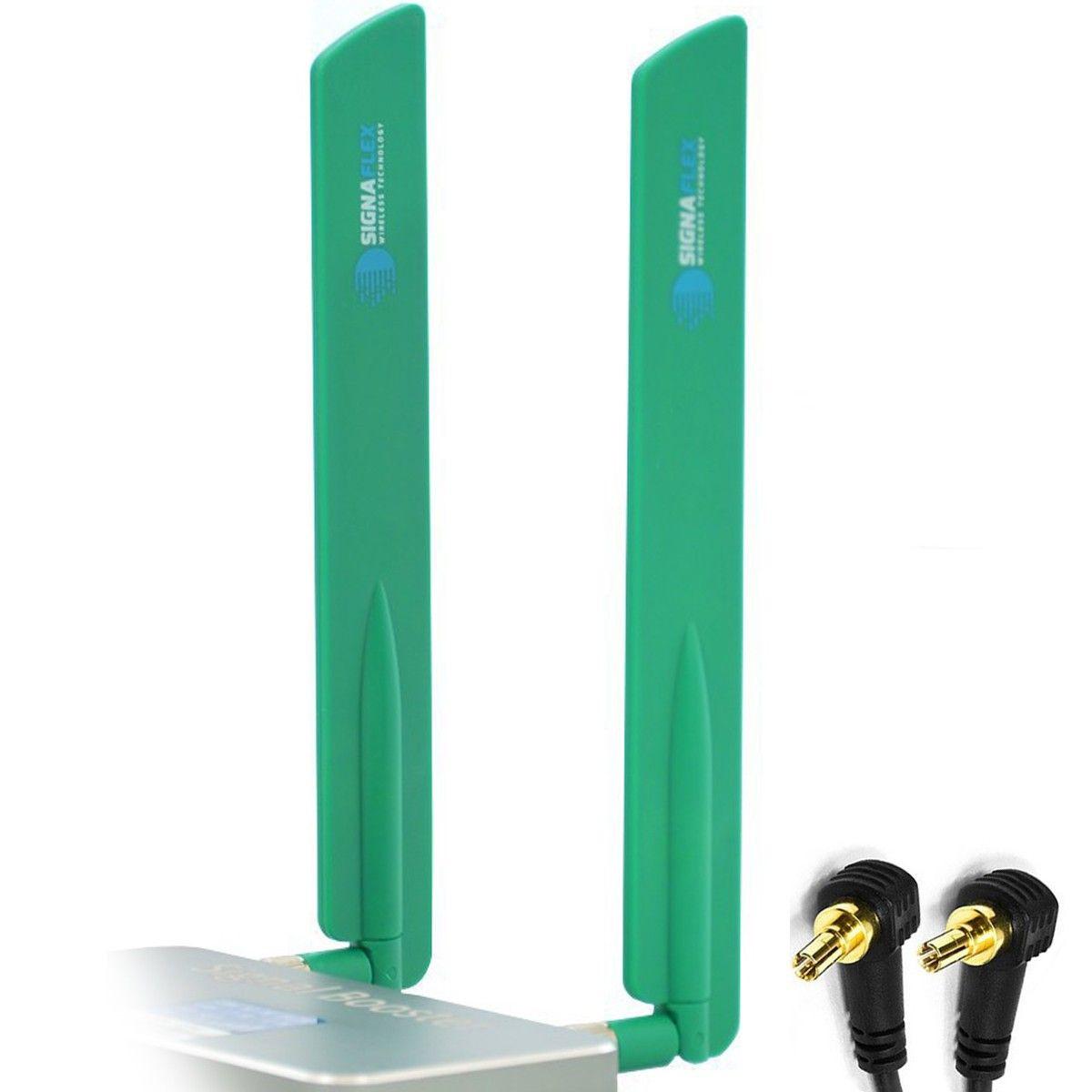 Antena bat 4G LTE GREEN 13dbi +CRC9 x 2szt