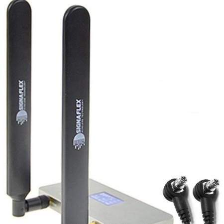 2 x Antena bat 4G LTE black 12 dbi TS9