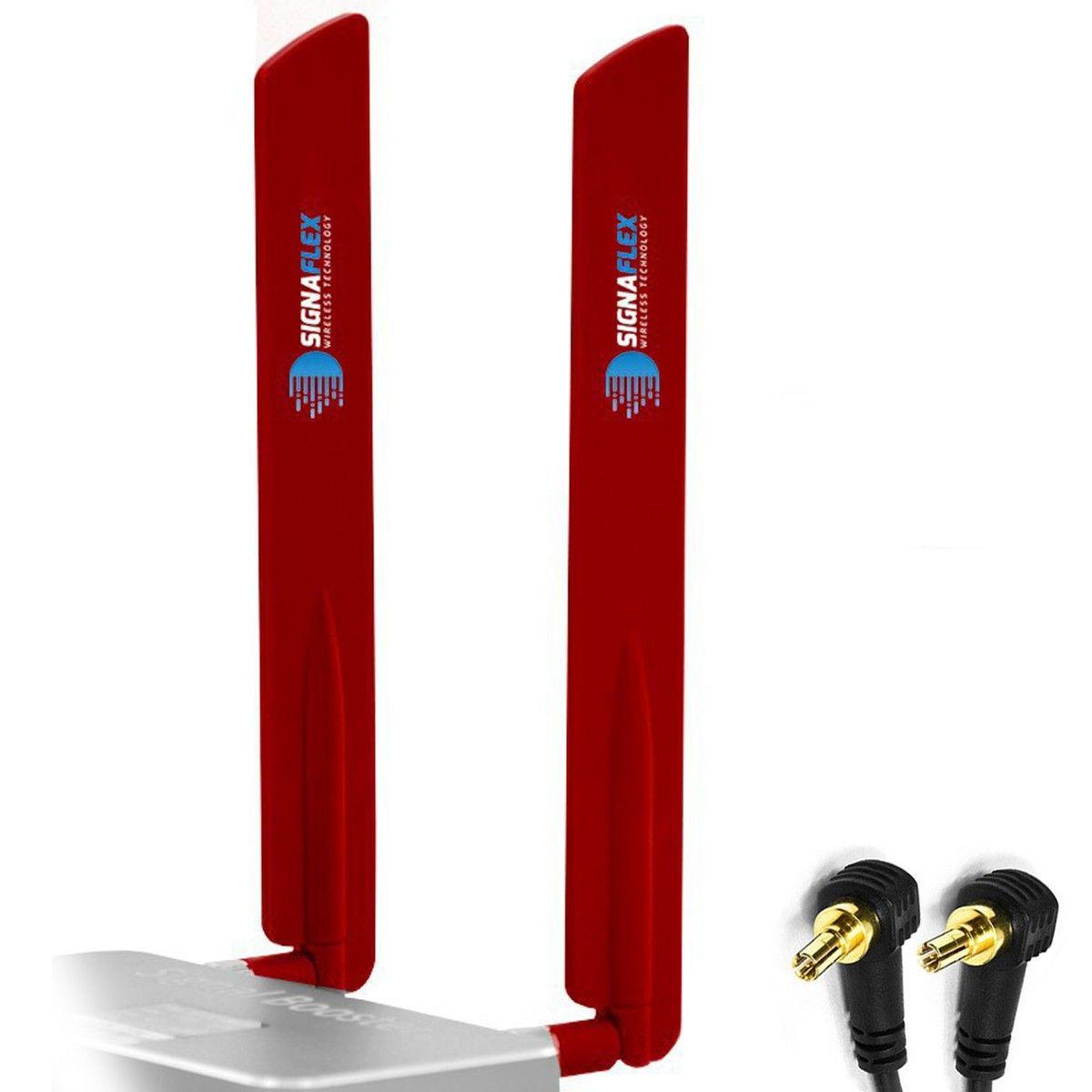 Antena bat 4G LTE RED 15dbi + CRC9 x 2szt