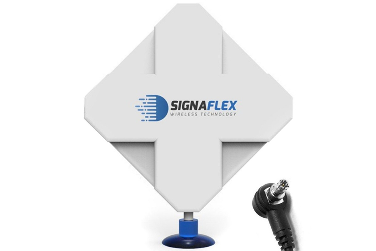 Antena 4G DUAL X-CROSS 40dbi 6m FME Signaflex + konektor TS9