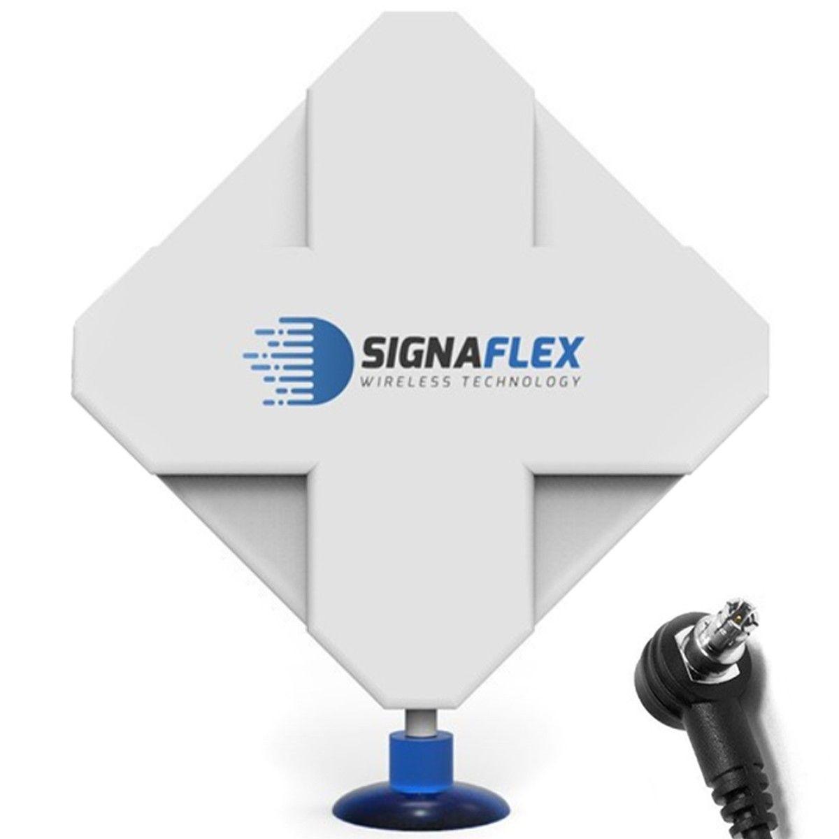 Antena 4G Dual X-Cross 44dbi 10m FME Signaflex + konektor TS9