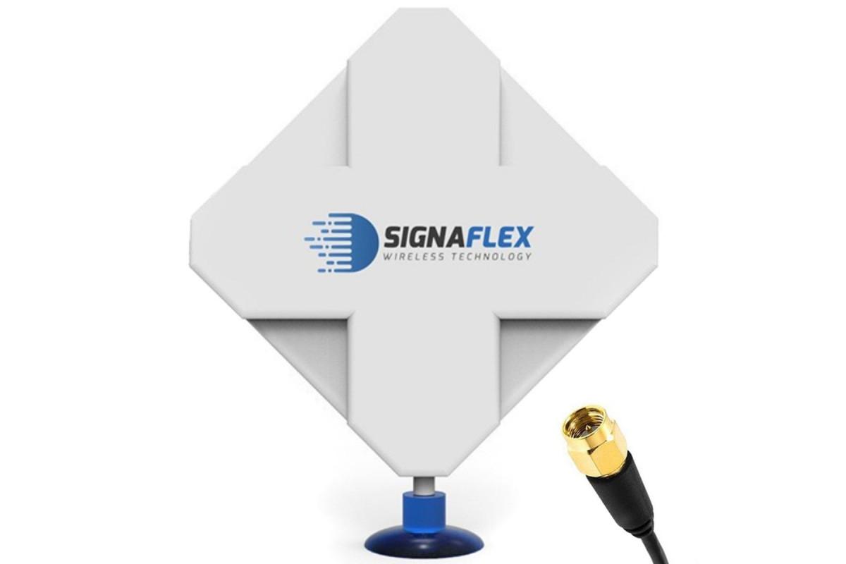 Antena 4G Dual X-Cross 40 dbi 6 m FME Signaflex + konektor SMA