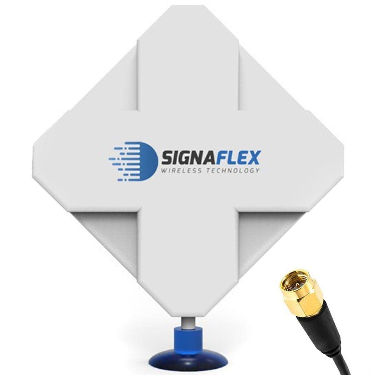 Antena 4G DUAL X-CROSS 40dbi 6m FME Signaflex + konektor SMA