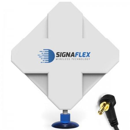 Antena 4G DUAL X-CROSS 40dbi 6m FME Signaflex + konektor CRC9