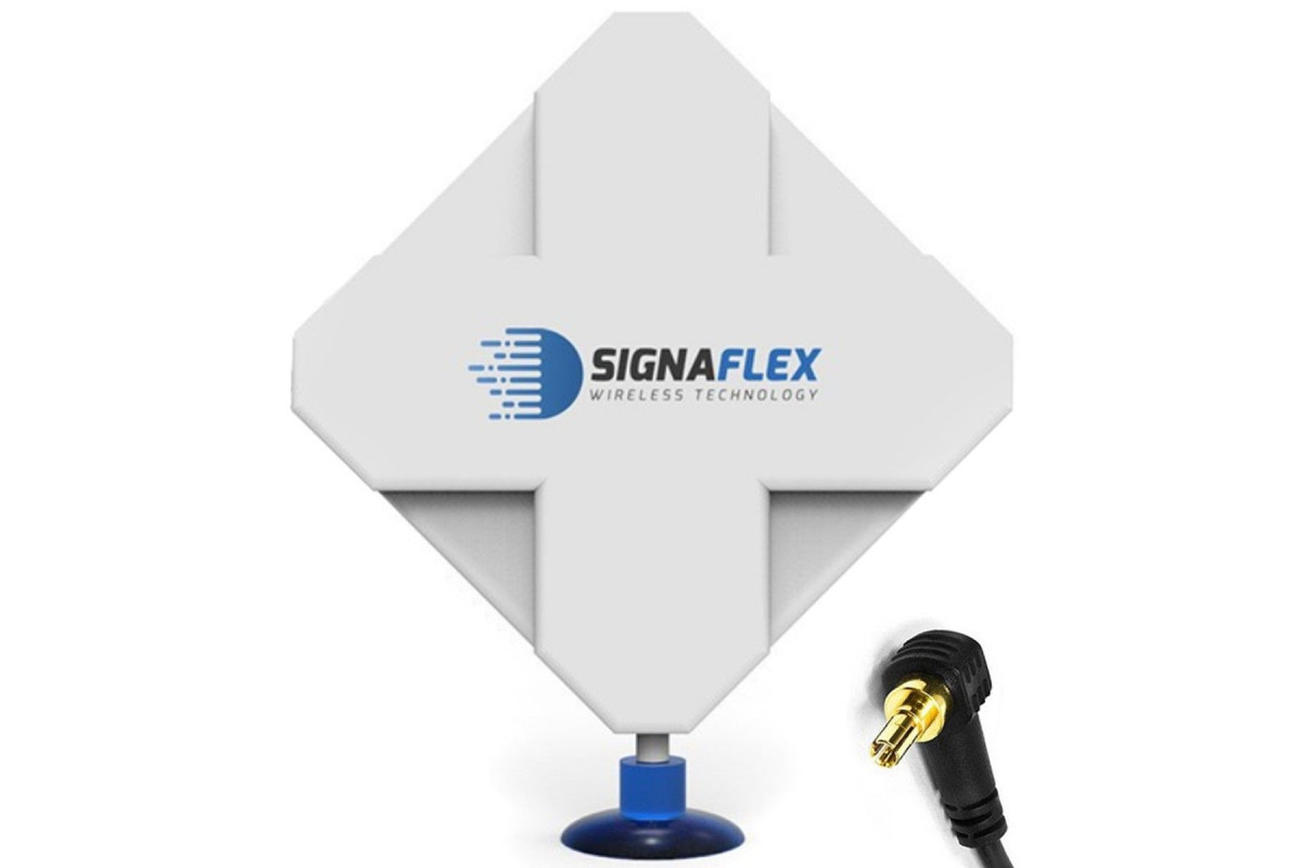 Antena 4G Dual X-Cross 44dbi 10m FME Signaflex + konektor CRC9