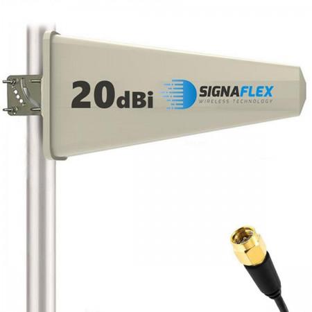 Antena Tajfun 20 dBi 15 m FME + konektor SMA
