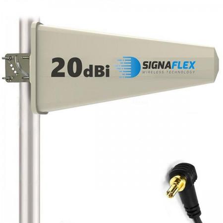 Antena Tajfun 20 dBi 15 m FME + konektor CRC9