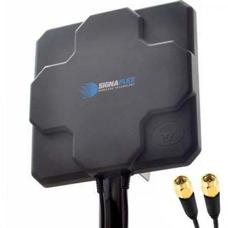DUŻA Antena X-CROSS DUAL 2x 22dbi 4G LTE 2x 5m 2x SMA zew.