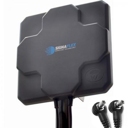 DUŻA Antena X-CROSS DUAL 2x 22DBI 4G LTE 2x 5m 2x TS9 zew.
