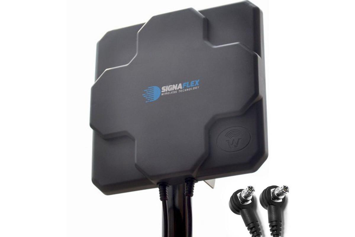 DUŻA Antena X-CROSS 2x 22DBI 4G LTE 2x5m 2x TS9 zew.