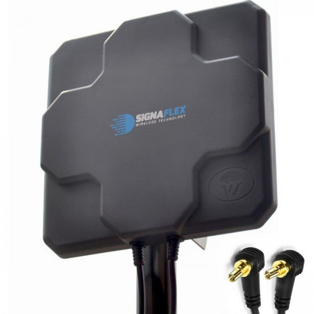 DUŻA Antena X-CROSS DUAL 2x 22dbi 4G LTE 2x 5m 2x CRC9 zew.