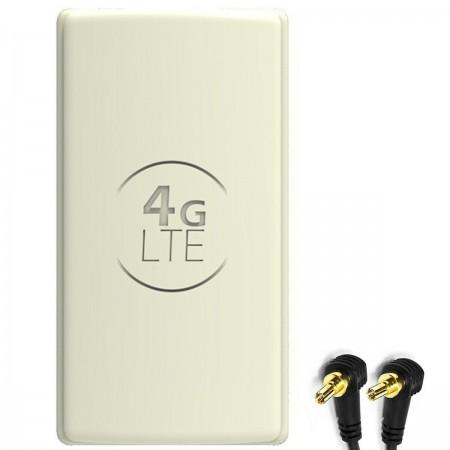 Antena 4G LTE DUAL PANEL 2x 25dbi + 2x10m SZARA + 2xCRC9