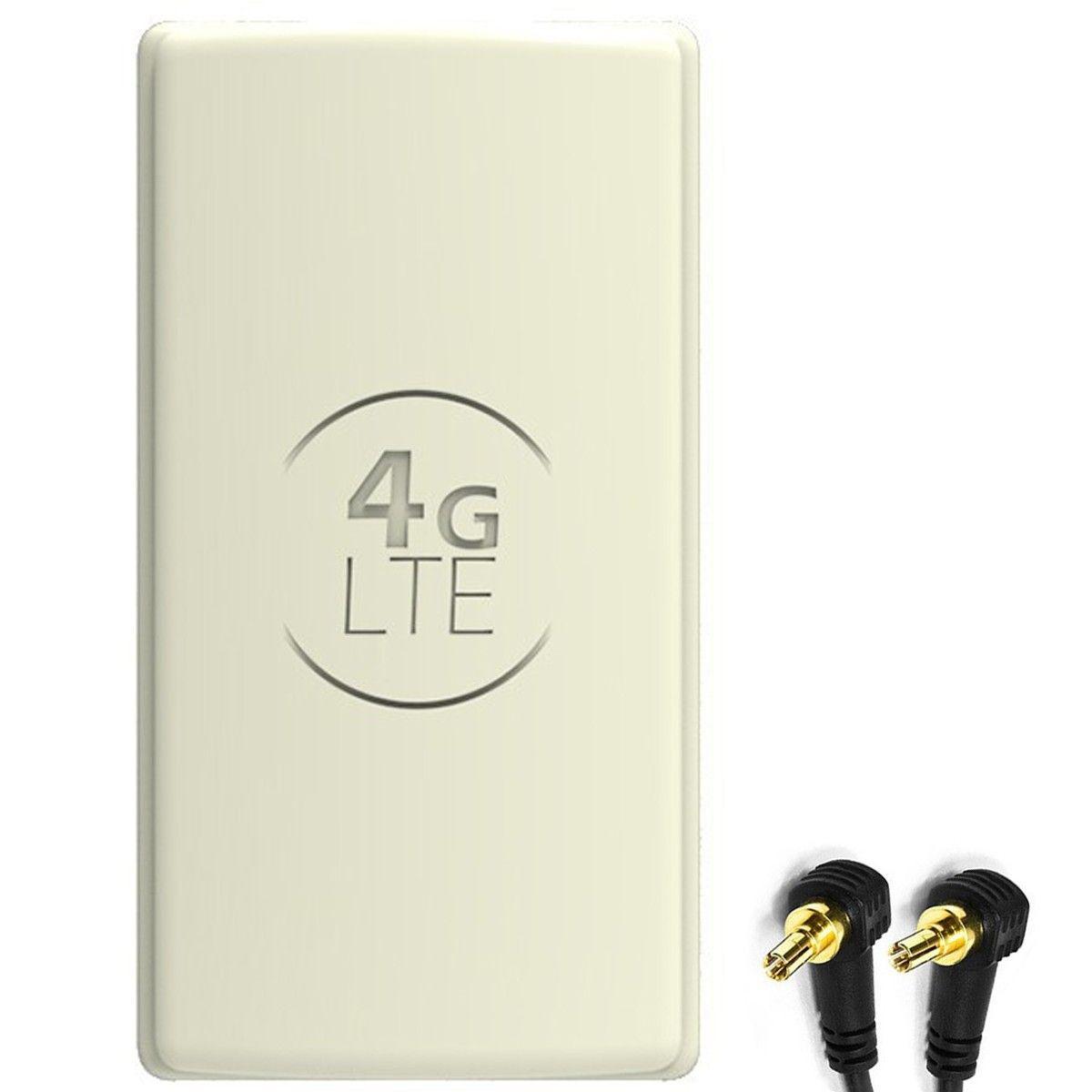 Antena 4G LTE DUAL PANEL 2x25dbi + 2x10m SZARA + 2x CRC9