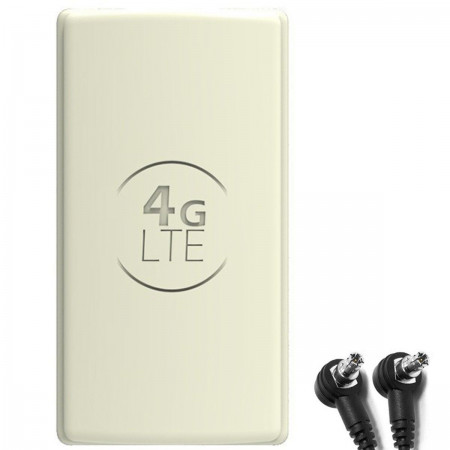 Antena 4G LTE DUAL PANEL 2x25dbi + 2x10m BIAŁA + 2x TS9