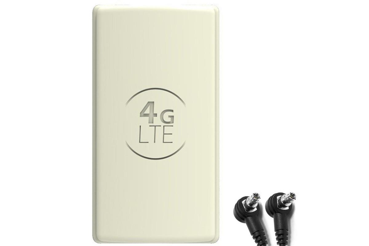 Antena 4G LTE DUAL PANEL 2x 25dbi + 2x15m SZARA + 2xTS9