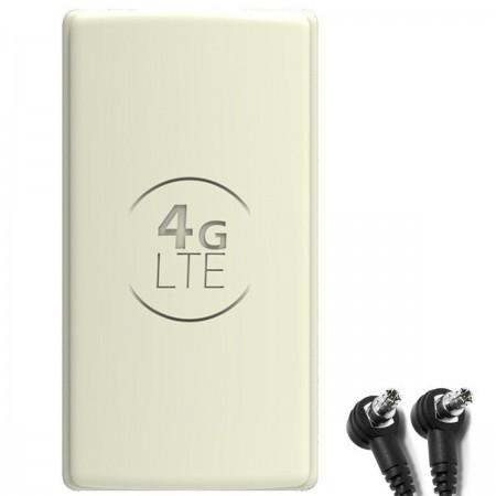 Antena 4G LTE DUAL PANEL 2x 25dbi + 2x15m BIAŁA + 2xTS9
