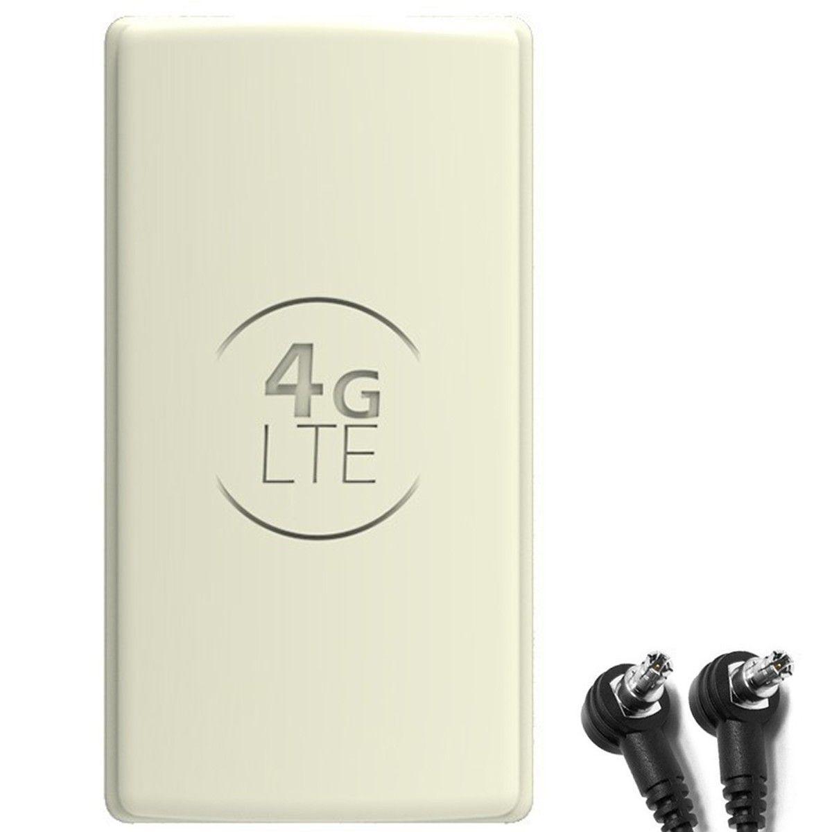 Antena 4G LTE DUAL PANEL 2x25dBi + 2x15m BIAŁA + 2x TS9