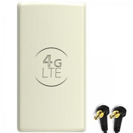 Antena 4G LTE DUAL PANEL 2x25dBi + 2x15m BIAŁA + 2x CRC9