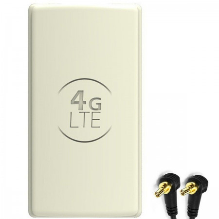 Antena 4G LTE DUAL PANEL 2x 25dbi + 2x15m BIAŁA + 2xCRC9