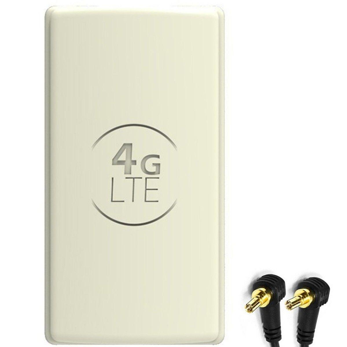 Antena 4G LTE DUAL PANEL 2x25dBi + 2x15m SZARA + 2x CRC9