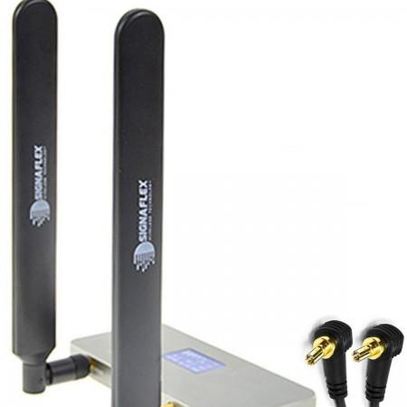 2 x Antena bat 4G LTE black 12 dbi +CRC9