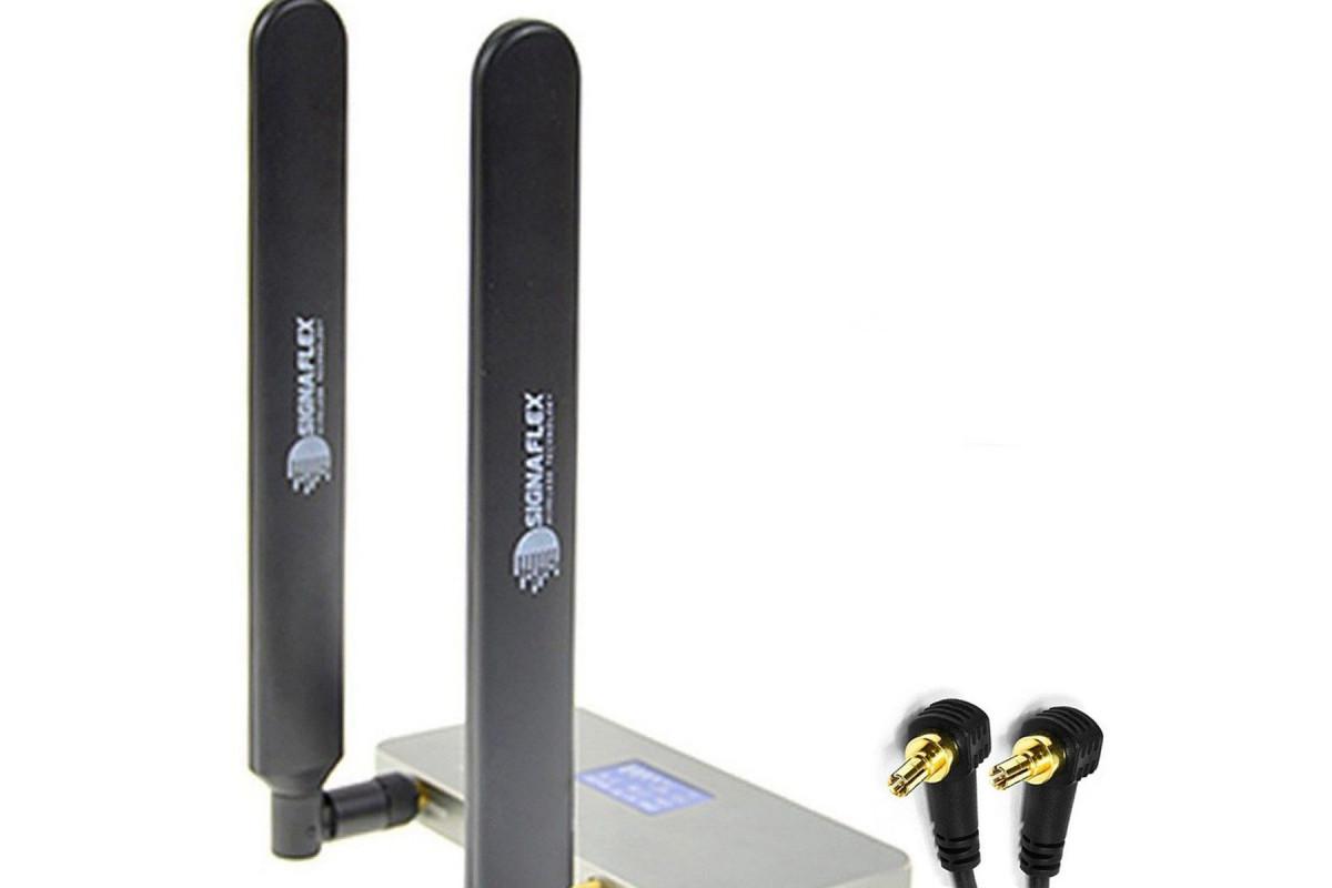 Antena bat 4G LTE black 12 dbi + CRC9 x 2szt