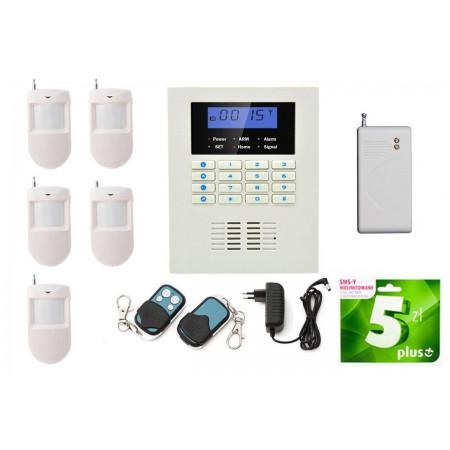 Alarm GSM Sentinel box + 4x czujka PIR