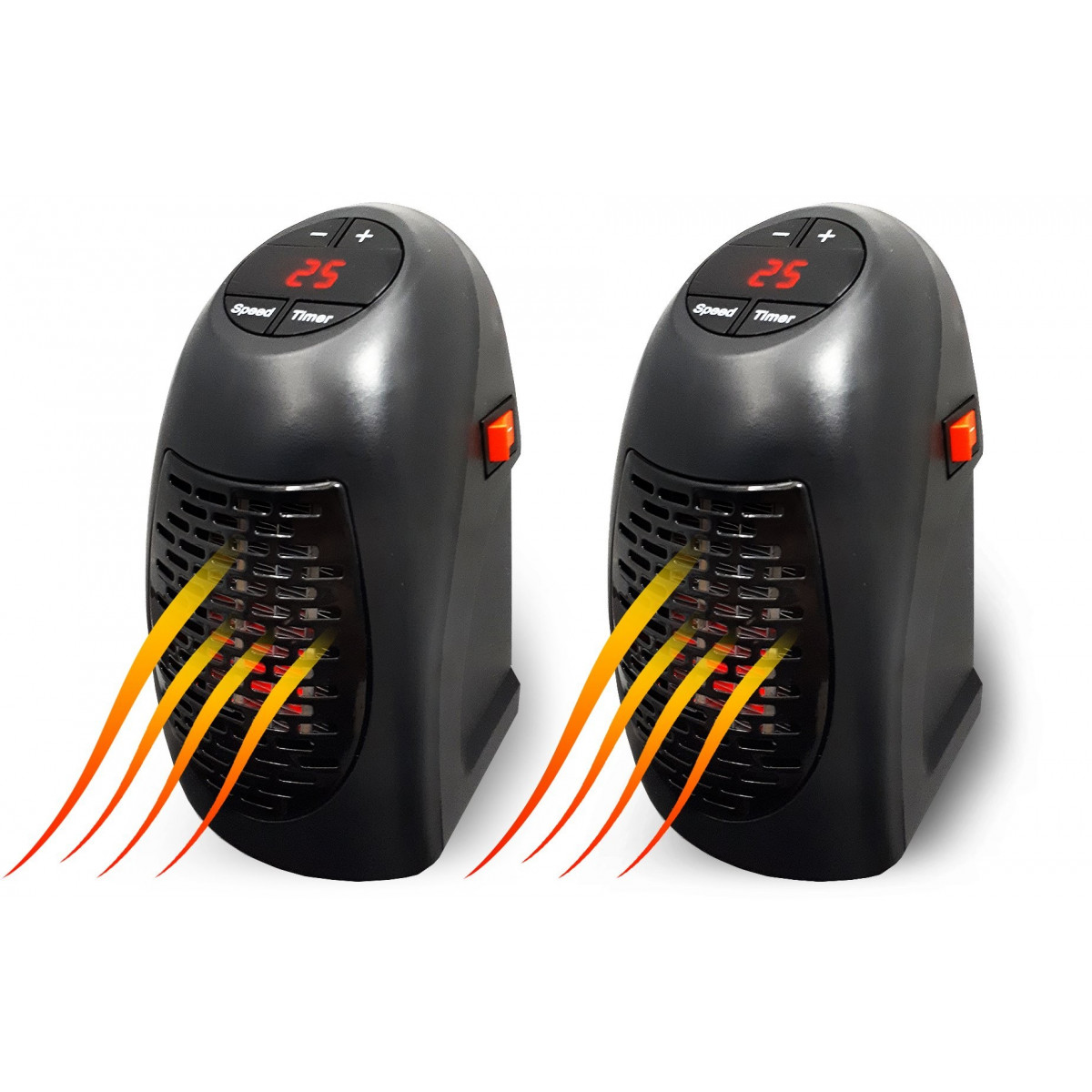 2x Mini grzejnik elektryczny 400W