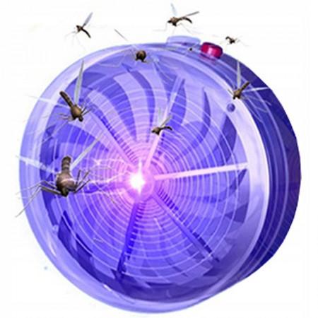 Mocna lampa owadobójcza solarna muchy komary owady