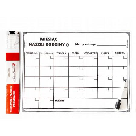 Planer kalendarz tablica magnetyczna na lodówkę