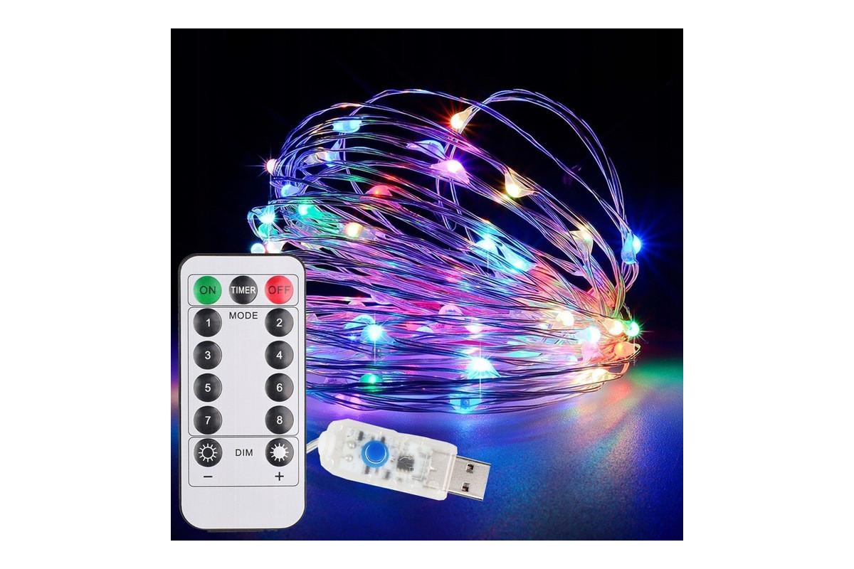 Dekoracyjny łańcuch świetlny LED USB + pilot